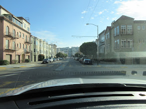 Photo: My GPS routed me up Divisidero back to the freeway up that hill