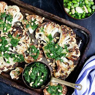 Cauliflower Steak with Spicy Salsa Verde