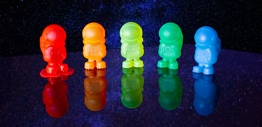 Produce vibrant SLA prints that are out of this world when you use MH Build Series Photopolymer Resin.