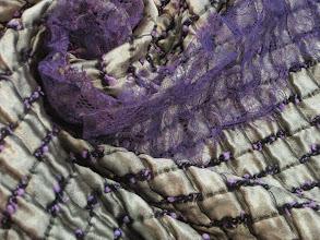 Photo: Ткань :Жаккардовая шелк+шерсть ш.135см.цена 3500руб. кружево ш.10см. цена 450 руб.