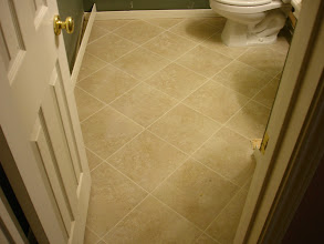 Photo: 13x13 tile installed diagonal