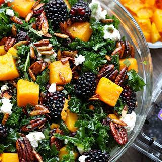 Blackberry and Butternut Squash Harvest Salad.