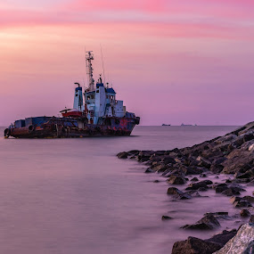 Ahoy  by Ansari Joshi - Transportation Boats ( silky, seascape, waterscape, ship, boats, long exposure, landscape, smooth,  )