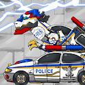 T-rex Cops - Combine! Dino Robot : Dinosaur Game icon