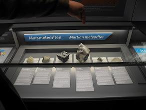 Photo: Les météorites martiennes.