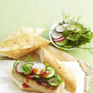 Asian Seafood Sandwich.