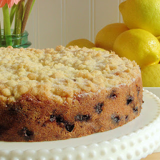 Blueberry-Raspberry Buckle with Sugar Cookie Streusel
