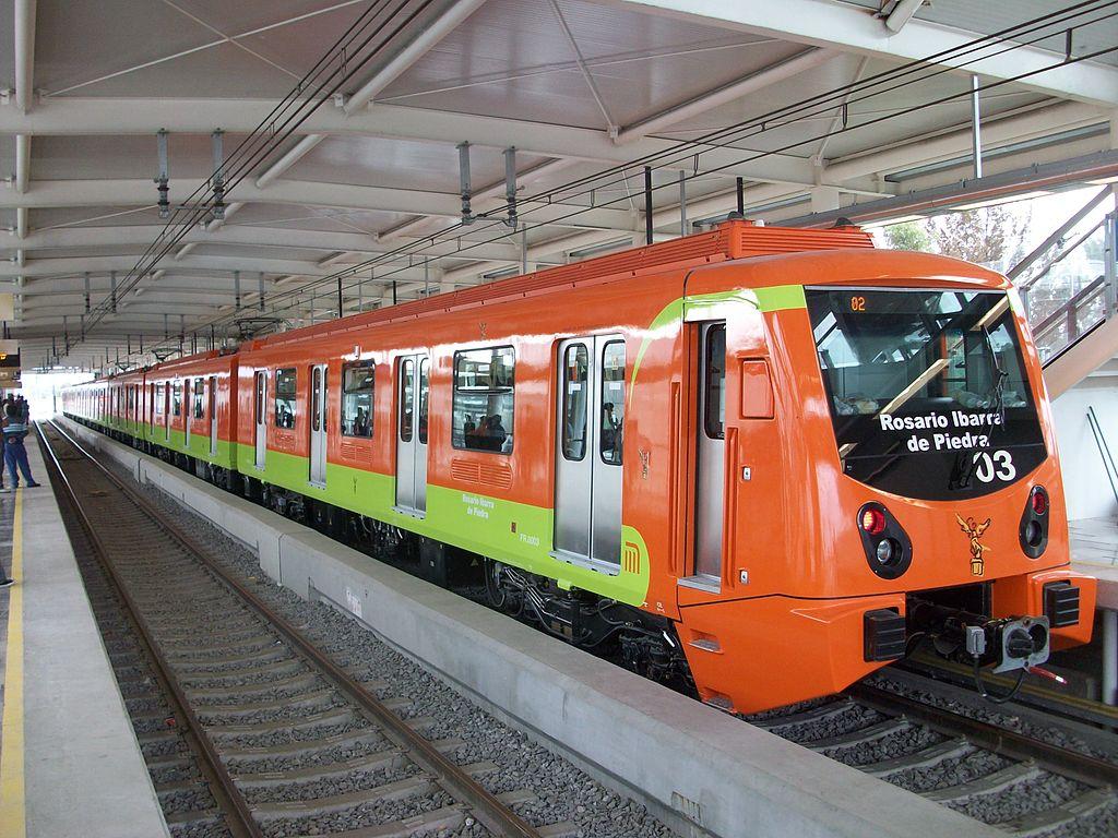 Trem da linha 12 do Metrô da Cidade do México, a mais recente do sistema (Wikimedia Commons/Reprodução)