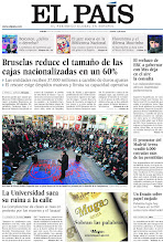 Photo: Bruselas reduce el tamaño de las cajas nacionalizadas en un 60%, la Universidad saca su ruina a la calle y el rechazo de ERC a gobernar con Mas deja en el aire la consulta, en la portada de El País del jueves 29 de noviembre de 2012. http://ep00.epimg.net/descargables/2012/11/29/e8b806bc2a08de74b615492d63174c00.jpg