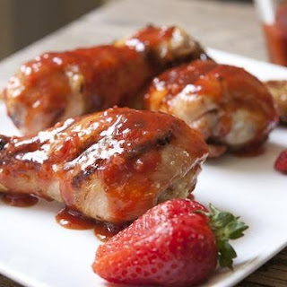 Grilled Chicken with Spicy Strawberry BBQ Sauce