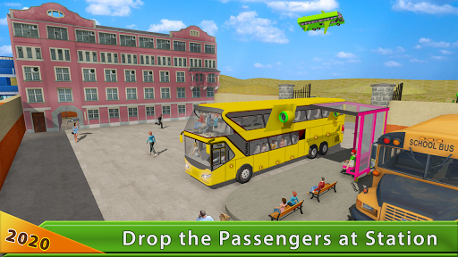Flying Bus Driving simulator 2019: Free Bus Games 2.6 de.gamequotes.net 5