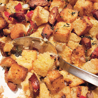 Cornbread Stuffing with Andouille, Fennel, and Bell Peppers Recipe | Epicurious.Com Recipe