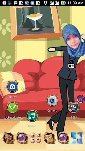 Funny cute girl Live wallpaper