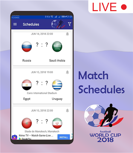 Score & Schedule : World Cup 2018 1.5 screenshots 1