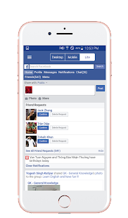 PC View for Facebook - Desktop Browser - náhled