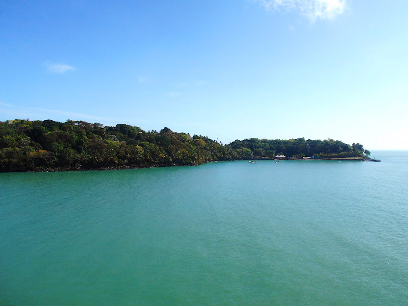 A view of Devil's Island in French Guiana as seen from Seabourn Quest.