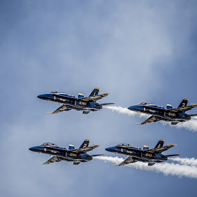 Blue Angels by Anthony Martinez - Transportation Airplanes ( duluth air show, stunt flying, blue angels )