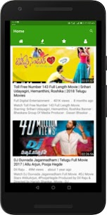 Telugu Hit Movies : New, Mid & Old Films Free App Download For Android 1