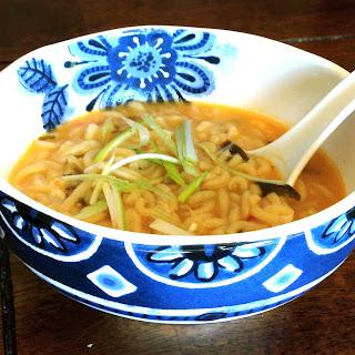 """""""Grown-Up"""" Ramen Noodle Soup."""