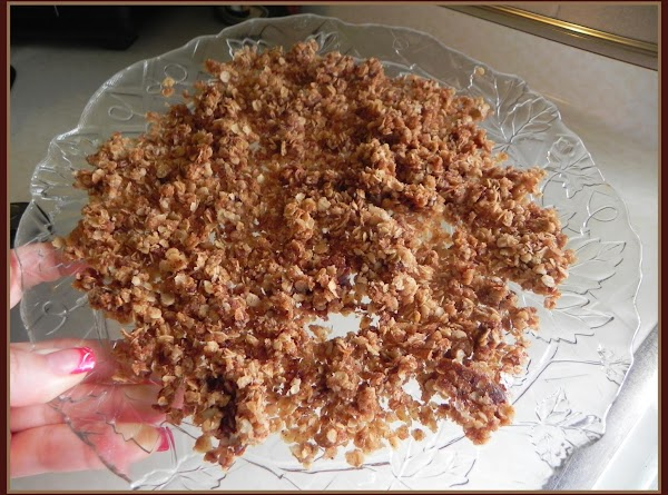 Remove the oat mixture from pot and spread on a plate. As it cools...