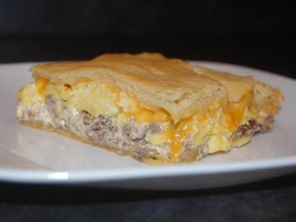 Sausage-cheese Crescent Roll Squares