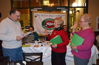 Photo: The Carbondale chapter of UNICO was proud to induct two new members into its organization  at the February meeting. President Tom Gretzula is pictured swearing in Mary Monahan and Lena Graziano