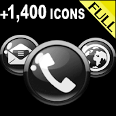 ICON PACK GLOSSY BLACK BUTTONS