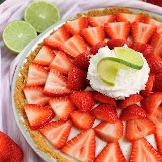 No Bake Strawberry Buttermilk Key Lime Pie.