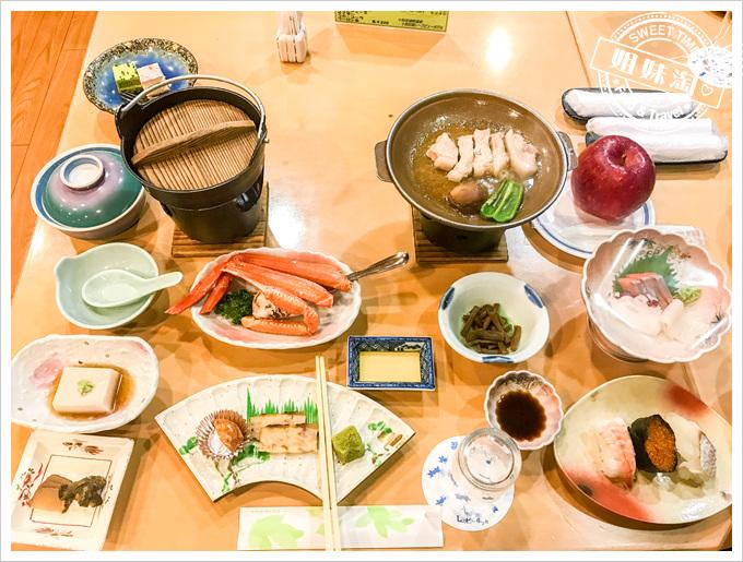 秋田縣十和田湖VIEW飯店晚餐