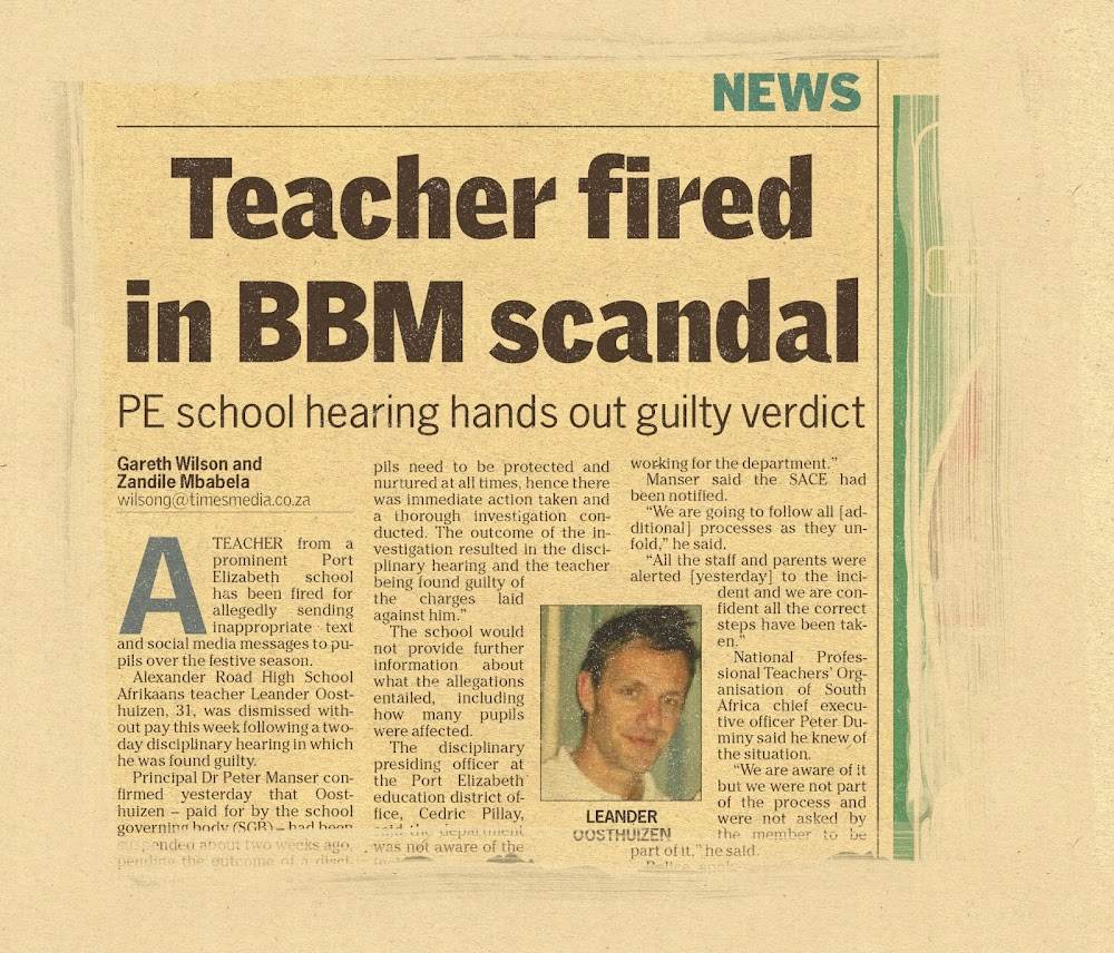 Gqeberha teacher in sex text trouble — again