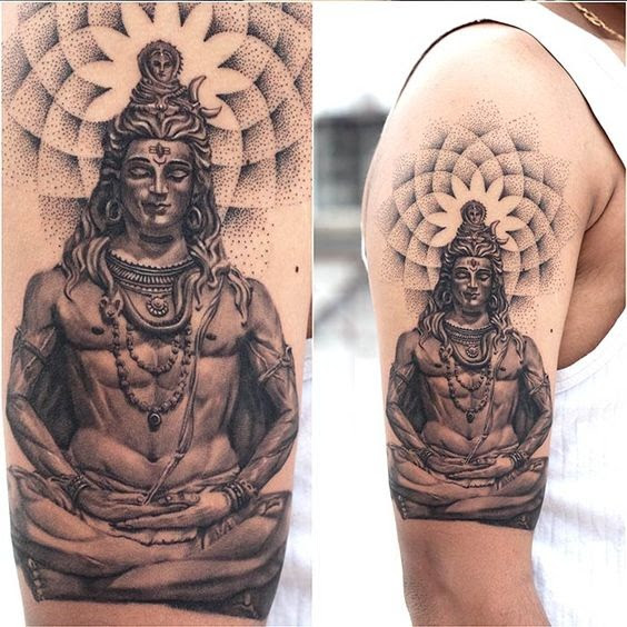 60 bestest shiva tattoo design and ideas. Black Bedroom Furniture Sets. Home Design Ideas