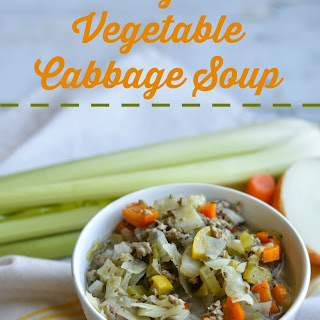 Turkey and Vegetable Cabbage Soup.