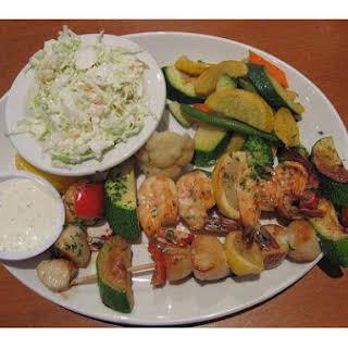 Seafood Kebab.