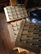 Photo: in 2010 my son made me me my first bobbin racks, i have them from time to time in my shop for sale they sell quickly.