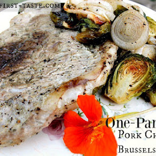 One-Pan Paleo Pork Chops with Brussels Sprouts