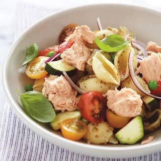 Salmon Pesto Pasta Salad.