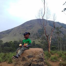 Enjoying the Nature by Dineshkumar Palanaichamy - Babies & Children Child Portraits ( mountain, plants, trees,  )