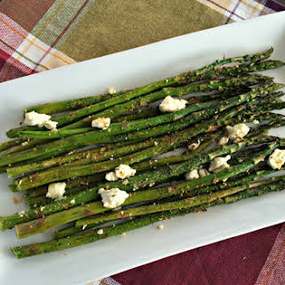 Roasted Asparagus with Feta Cheese.
