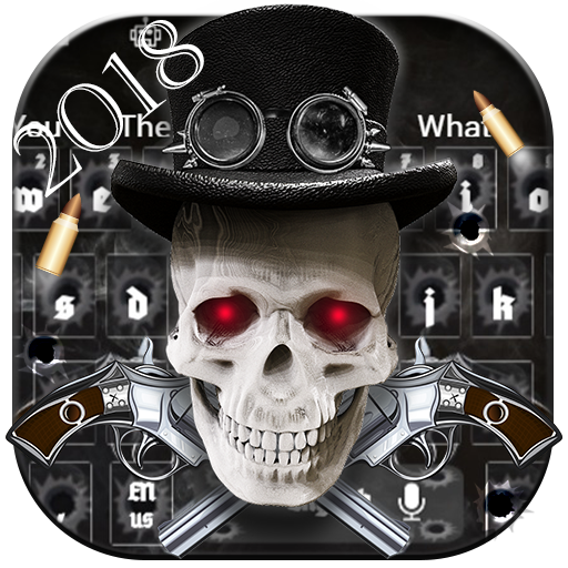 Steampunk Skull With Guns Keyboard Theme 2018 Android APK Download Free By RIU Design