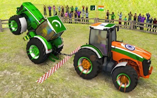 Pull Tractor Games: Tractor Driving Simulator 2019  captures d'écran 1
