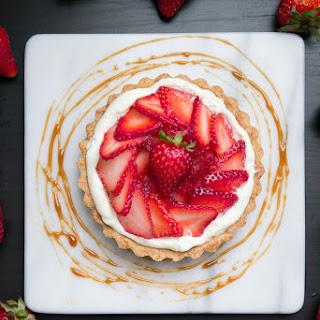 Strawberry White Balsamic Caramel Tarts
