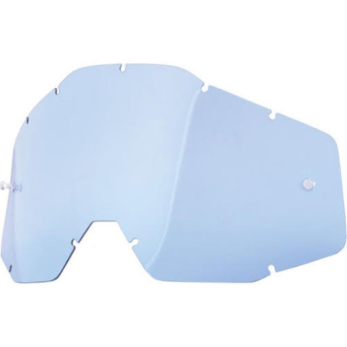 100% Replacement Anti-Fog Dual Lens, Blue - Vented