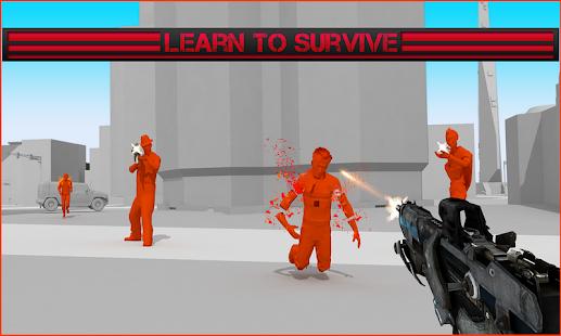 Červená superhotová střílečka - náhled