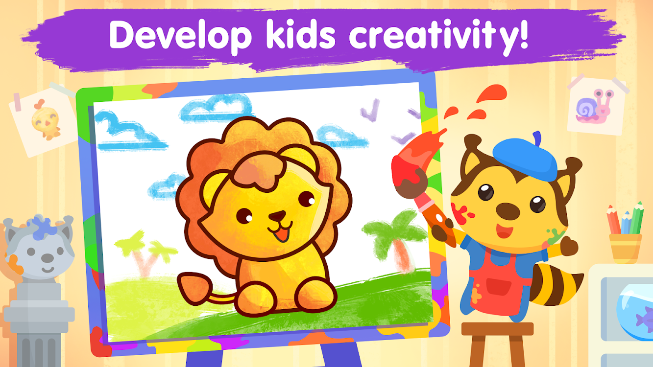 - Coloring Games For Kids And Toddlers 2-5 Years Old – (Android