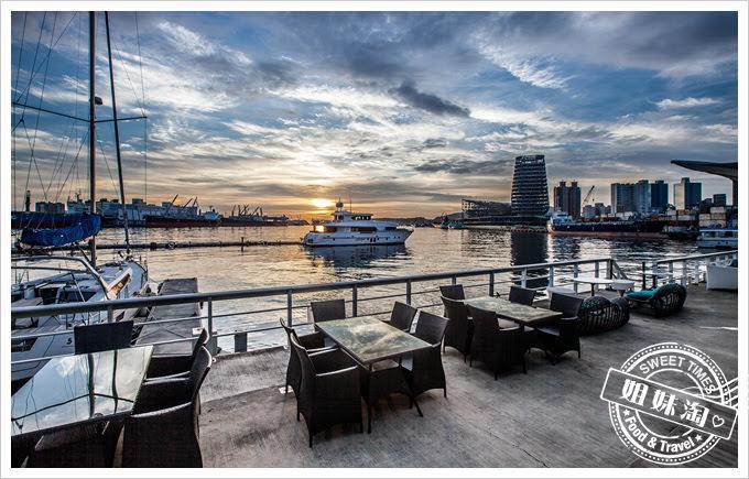 貝隆餐酒館夕陽景色