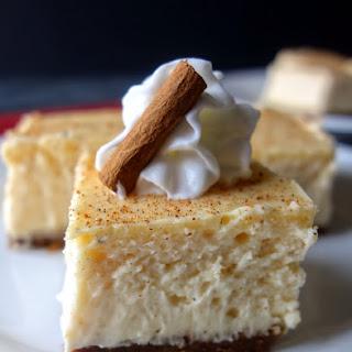 Eggnog Cheesecake Bars with Gingersnap Crust Recipe