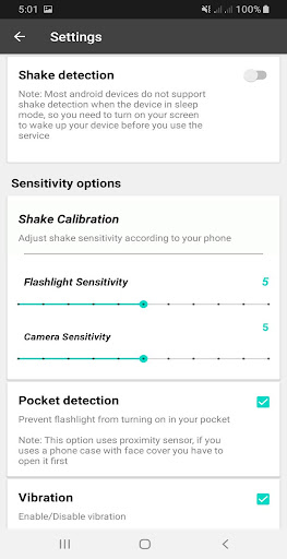 Shake Flashlight & Camera screenshot 4