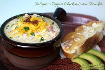 Jalapeno Popper Chicken and Corn Chowder
