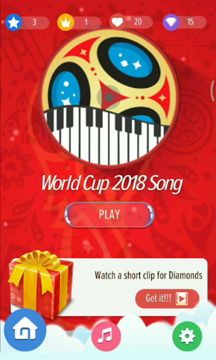 World Cup 2018 Official Song Piano Tiles 3.0.0 screenshots 1