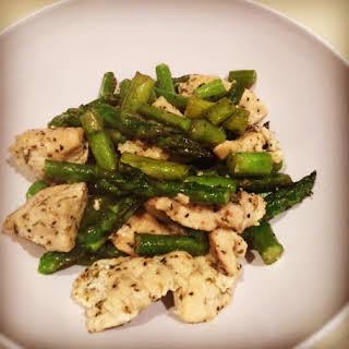 One Pan Chicken & Asparagus.